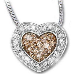 Heart-Shaped Chocolate Diamond Heart Of Love Pendant