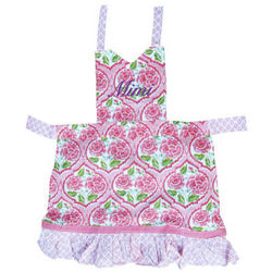 Personalized Sunset Floral Pattern Apron