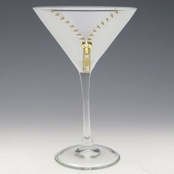 Gold Zipper Martini Glass