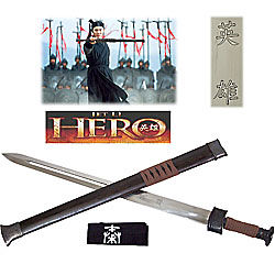 Jet Li Hero Sword of the Nameless Warrior with Scabbard
