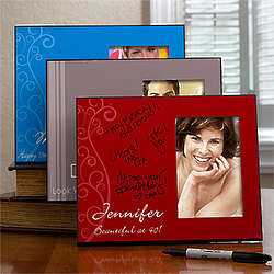 Birthday Greetings Personalized Signature Photo Frame