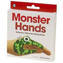 Monster Temporary Talking Hands Tattoos