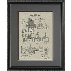 Diesel Engine Framed Patent Art Print
