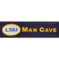 LSU Tigers Deluxe Man Cave Wood Sign