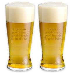 Personalized Spiegelau Lager Glasses