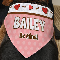Be My Valentine Personalized Dog Bandana