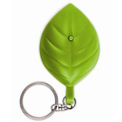 Solar Leaf Flashlight Key Chain