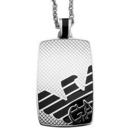 Men's Emporio Armani Eagle Logo Stainless Steel Dog Tag