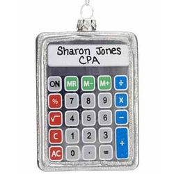 Personalized Calculator Christmas Ornament