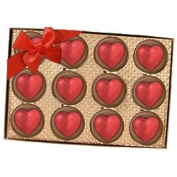 Hand Decorated Oreo Heart Cookies Gift Box