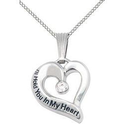 Hold You In My Heart Forever Memorial Pendant