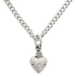 Sacred Heart Sterling Pendant