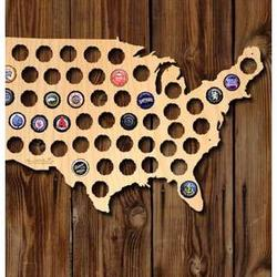 Medium Beer Cap Map of USA
