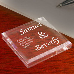 Personalized Best Friends Keepsake & Paperweight