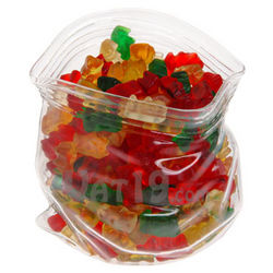 Unzipped Glass Bag Candy and Snack Bowl