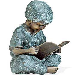 Reading Boy Garden Sculpture