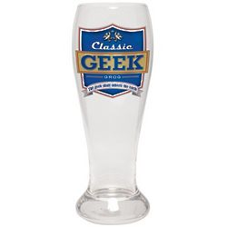 Classic Geek Grog Pilsner Glass