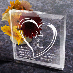 Personalized Always Beside You Paperweight