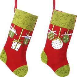 Designer Details Personalized Felt Christmas Stocking