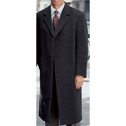 Cashmere Blend Full Length Overcoat for Men