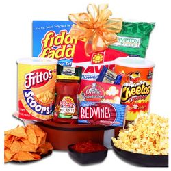 Football Party Snack Gift Basket