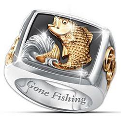 Gone Fishing Men's Ring