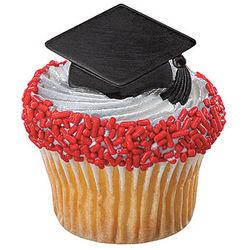 Black Graduation Cap Rings