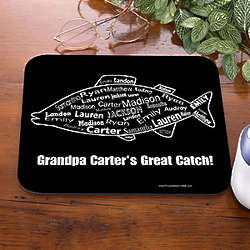 What a Catch Personalized Fishing Mouse Pad