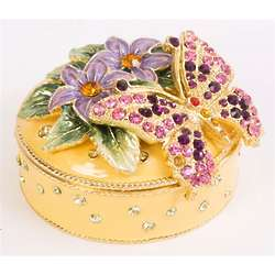 Swarovski Bejeweled Butterfly Trinket Box