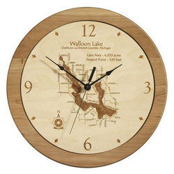 Personalized Etched Lake Clock