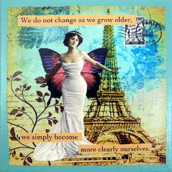 Grow Older Quote Parisian Art Print on Canvas