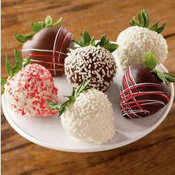 Half Dozen Winter Flurry Chocolate Dipped Strawberries