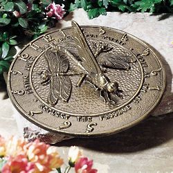 Handcrafted Dragonfly Sundial