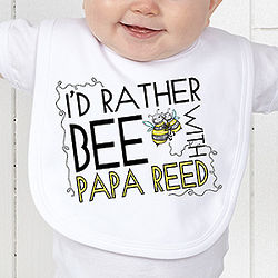 I'd Rather Bee Personalized Baby Bib