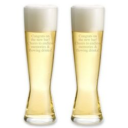 Personalized Spiegelau Tall Pilsner Glasses