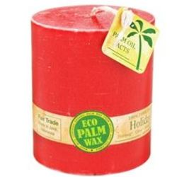 Holiday Spice Eco Palm Wax Pillar Candle