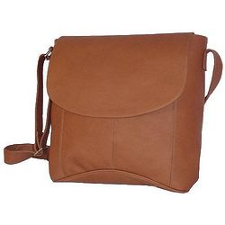 Leather Vertical Messenger Bag