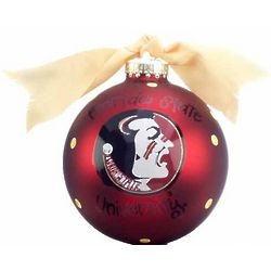 Personalized Florida State University Mascot Christmas Ornament