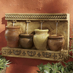 Southwestern Pot Wall Fountain