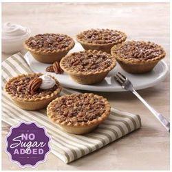 Six No Sugar Added Mini Pecan Pies