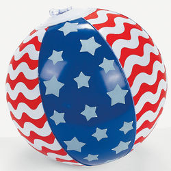 Stars and Stripes Inflatable Beach Balls