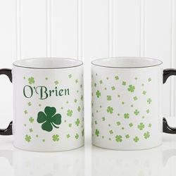 Irish Shamrock Personalized Coffee Mug