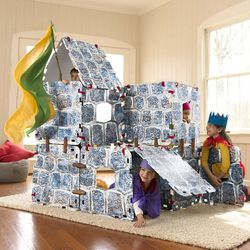 Kid's 16-Piece Fantasy Castle Building Set