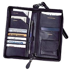 Zippered Passport Travel Organizer