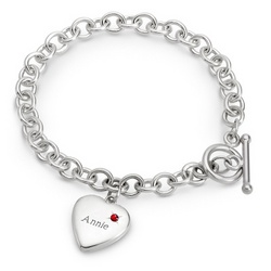 January Birthstone Locket Bracelet