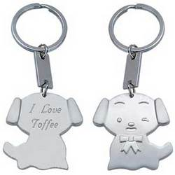Personalized Cat or Dog Brushed Silver Key Chain