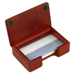 Rosewood Business Card Holder Box