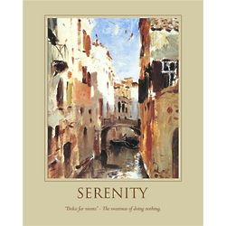 Personalized Serenity Canal in Venice Print