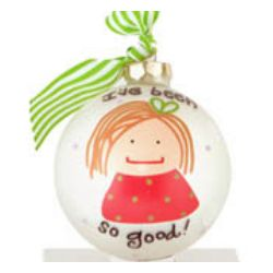 """So Good"" Girl Christmas Ornament"
