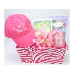 Eat Your Peas for the Cure Women's Cancer Basket